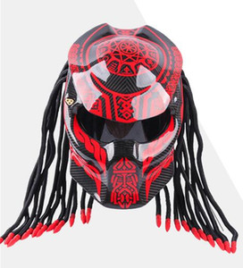 Wholesale Knight personality full-covering iron blood soldier carbon fiber shaped helmet retro motorcycle men and women sports car full face helmet