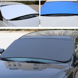 Wholesale 147 cm Super Thick Aluminum Foil Car Front Sunshade Anti theft Sunscreen UV Block Snow Cover With Storage Bag Auto Universal