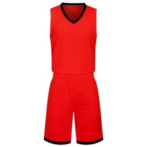 2019 New Blank Basketball jerseys printed logo Mens size S-XXL cheap price fast shipping good quality Red R002 on Sale