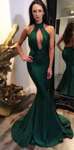 Wholesale Sexy Green Bare Back Nigerian Evening Party Dresses High Quality DuBai Designers Evening Dress for Women