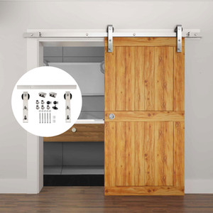Wholesale 4.9FT 6FT 6.6FT Heavy Duty Stainless Steel Mordern Wood Sliding Barn Door Hardware