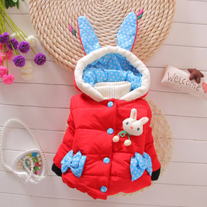 Wholesale Child Winter Warm Princess Hoodie Coat children outerwear Jacket baby winter baby girls jacket thick children coat infant toddler clothing
