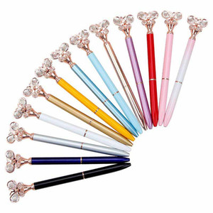 Wholesale Fashion Ballpoint Pen Bullet Type Diamond Butterfly Pen Office Stationery Creative Advertising Promotion Metal Free DHL