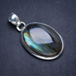 Wholesale Natural Blue Fire Labradorite Handmade Unique Sterling Silver Pendant quot Y5200