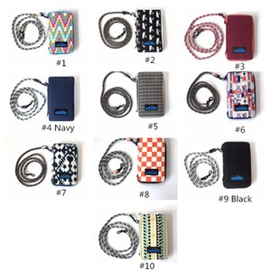 Wholesale KA Canvas Phone Wallets Case With Rope Desinger Handbag Travel Purse Outdoor Bags Colors High Quality