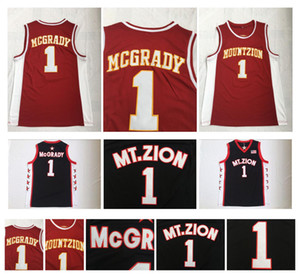 Wholesale Tracy McGrady T MAC High School Basketball Jersey MT Zion Mount Zion Christian NCAA College Tracy McGrady Black Shirts Stitched