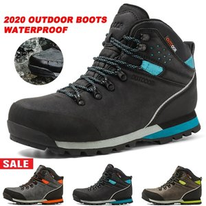 Wholesale High Quality Men Hiking Boots High top Waterproof Boots Brand Anti Slip Skid Hiking Shoes Mountain Boots EU40 US7