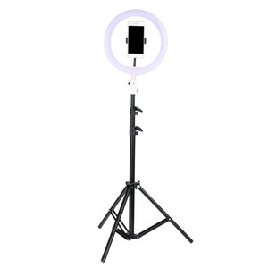 "Tycipy Phone Ring Light For iPhone 7 6 Plus 10"" 26cm Dimmable LED Ringlight With Tripod Stand For Makeup Photography Selfie on Sale"