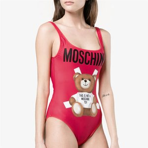 MOSC Small Bear Fashion Swimwear Bikini for Women Letter Brand Swimsuit Bandage Bi Quinis Sexy Bathing Suit on Sale