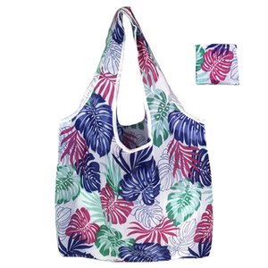 Wholesale New Fashion Women Foldable Shopping Bag Shopper Tote Large Eco Reusable Shopping Bags Portable Shoulder Handbag Folding