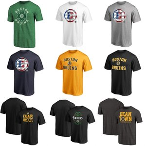 Mens Boston Bruins Hockey T-Shirt Black Grey Gold Navy White No Name No Number Jerseys Mix Order Wholesale Fast Shipping