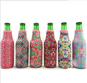 Wholesale Lilly Bottle Wrap Neoprene Beer Cooler Baseball Jewel Coral Rose Mucho Printing Can Cover Bags Kitchen Tools ML