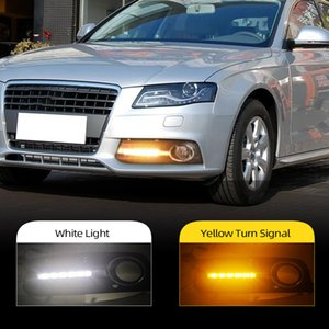 Wholesale lighting for car audi a4 for sale - Group buy 2Pcs For Audi A4 A4L B8 Car Styling LED DRL Daytime Running Light Daylight Fog Lamp Cover Hole