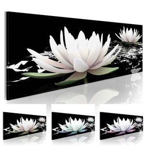 Lotus Flower Abstract Oil Painting on Canvas Home Decor Wall Art Canvas Print Art Decor Watercolor Landscape Multicolor on Sale
