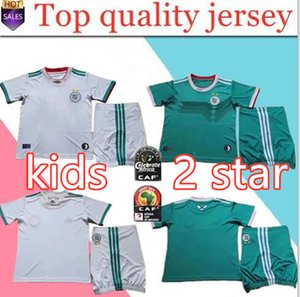 Wholesale 2019 Algeria stars Kids kit home white Soccer Jersey Algeria MAHREZ Child Soccer Shirt BELHAJ Boy National Team Football uniform