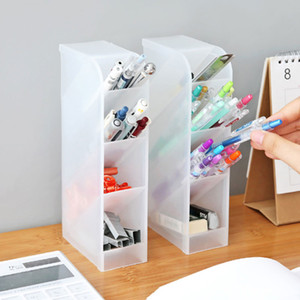 Wholesale pencil holders resale online - New Creative Drawer Desk Sundries Storage Boxes Desktop Makeup Cosmetic Tools Organizer Stationery Pen Pencil Holder