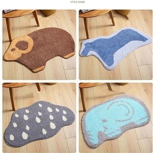 Wholesale Floor Mats Door Rugs Bathroom Carpet Mat Cartoon Style Floor Rug Animal Styling Mat Non slip Pad Quality Flocking Doormat