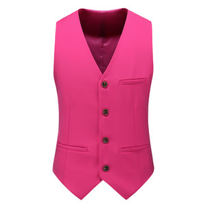 MOGU 12 Colors Men's Smart Casual Slim Vests Fashion Mens Waistcoat Solid Single Breasted Gilet Homme Fit Male Suit for Men on Sale