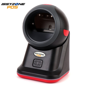 Wholesale High Quality D Barcode Scanner red LED Desktop Omnidirectional Bar code Reader Auto Read Handfree USB Scanner for Retail Store