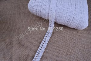 Wholesale 50Yards White color Cotton Lace Crochet Ribbon lace width mm Lace Trim Edging Wedding