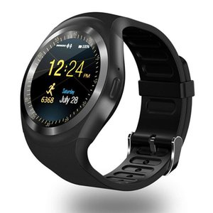 Wholesale Digital Watches Y1 Bluetooth Smart Watch Men Wristband Bracelet With SIM Card Slot For android cellphones IPS Round Water Resistant