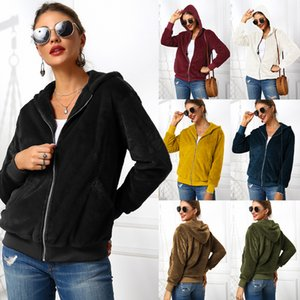 Wholesale 9 Colors Maternity Plush Fake Fur Hooded Outerwear Pocket Hoodie Coat Warm Zipper Cardigan Sweater Casual Outwear Mom Jacket Overcoat M807