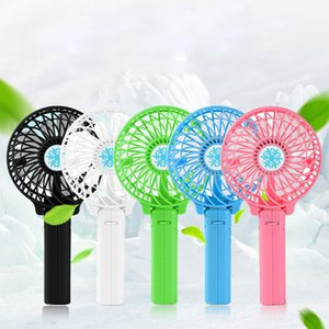 Wholesale Mini Fan Portable USB Battery Fan Ventilation Foldable Air Conditioning Fans Foldable Cooler Mini Operated Hand Held Cooling
