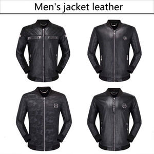 NEW 2019 Fashion Men's leather motorcycle coats jackets used leather coat Leather jacket