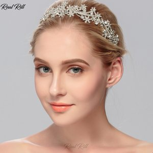 Real Rill Vintage Rhinestone Headband Rose Gold And Silver Tiaras Wedding Crowns Headpieces Bridal Accessories