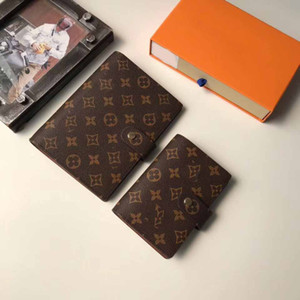 Wholesale 12 MODEL SMALL RING AGENDA COVER Designer WALLET Womens mens Notebook Credit With gift box