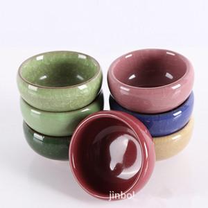DHL Free Ceramic Ice Crack Small Jar Essential Oil Bowl Makeup Beauty DIY Facial Face Mask Bowl