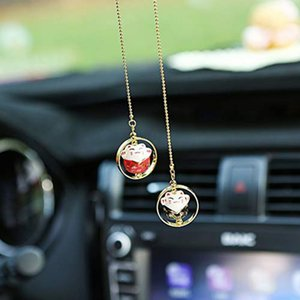 Wholesale Car Crystal Charm Car Pendant Hanging Ornament Decorations Interior Rearview Mirror Pendant