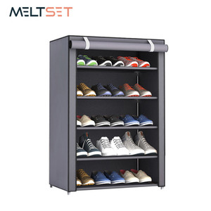3 4 5 6 Layer Stainless Steel Shoes Shelf Easy Assembled Shoe Rack Cabinet Shoes Organizer Stand Holder Keep Home Neat Shoe Box Q190429