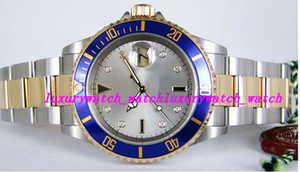 Luxury Watches Stainless Steel Bracelet Silver Serti Diamond Dial Yellow Gold 16613 WATCH 40mm Mechanical Automatic Fashion Men's Wristwatch
