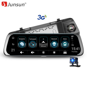 "Wholesale Junsun 3G Car DVR Stream Rear View Mirror Video Camera 7"" Android 5.1 Dash cam 16GB Full HD 1080P Video Recorder Dual Lens"