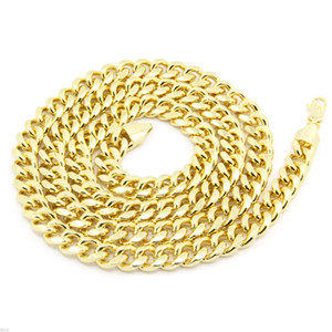 Wholesale Hip Hop Necklace Environmental Protection Electroplated Gold High Quality Necklace cm And Above Gold White Gold Color Chains