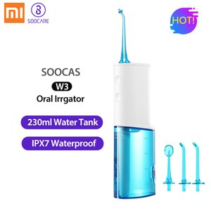 Wholesale Xiaomi Soocas W3 Portable Oral Irrigator Usb Rechargeable Water Dental Flosser Irrigator For Cleaning Teeth Water Jet Toothpick