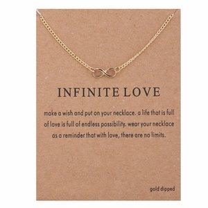 Wholesale infinite necklaces for sale - Group buy Infinity Pendant Necklace Infinite Love Charm Necklaces with Card Fashion Statement Clavicle Chain Choker Necklace for Women Jewelry