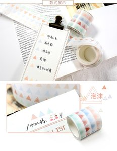 Wholesale Decorative Stickers Scrapbooking Grid Slim Color Japanese Washi Tape Set Masking Tape Girl Stationery