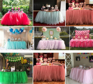 Wholesale Tulle Tutu Table Skirt Colors Wedding Birthday Party Sign in Booth Lace Table Cover DIY Craft Home Textiles Decorations