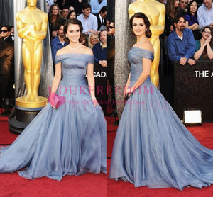 84th Annual Academy Awards 2019 Vintage Off The Shoulder Celebrity Dresses Sweep Train Red Carpet Dresses Formal Occasion Evening Party Dres on Sale