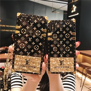Wholesale Fashion Monogram Printing Cases TPU Bumper Phone Case For Iphone XS Max XR X Plus Cellphone Shell With Hand Rope
