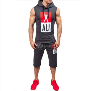 Sports Designer Tracksuits with Fashion Letters Print Sleeveless Summer Sweat Suits Mens Running Hoodies & Shorts Track Suits on Sale