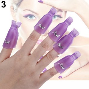 Wholesale LULAA Nail Art Soak Off Cap Clip Pink Purple Color New PC Plastic UV Gel Polish Remover Wrap Tool PcspzMRctb