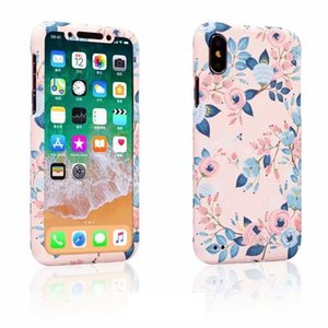 For iphone X 8 Case Daisy 360 full body front back protect cover For iPhone 6 6s plus 7 8 plus Mobile phone bag + flowers rope T191017