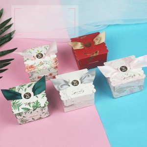 Wholesale 10PCS Small Wedding Supplies Square Candy Gift Boxes Christmas Candy Gift Packaging With Handles