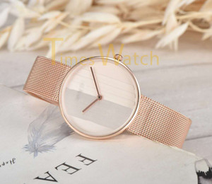Wholesale High Quality Fashion Women Quartz Watches Rose Steel Mesh Strap Bracelet Watch Luxury Ultra Thin Stainless Steel WristWatches