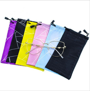 Wholesale Sunglasses Pouch Bags Eyeglasses Drawstring Bag Waterproof Glasses Case Cellphone Holder Soft Dust Carry Bag Eyewear Bags Accessories B5141