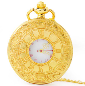 Wholesale 2019 Classic Men and Women Vintage Roman Quartz Pocket Watch Clothing Accessories Necklace Pocket Watch Gift Father s Day Gift