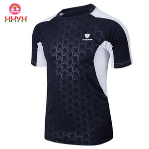 Tennis Shirt Outdoor Sports Running Workout Jogging Clothing Men Brand Fitness Tees Male Badminton Short Sleeve T-shirts Tops on Sale